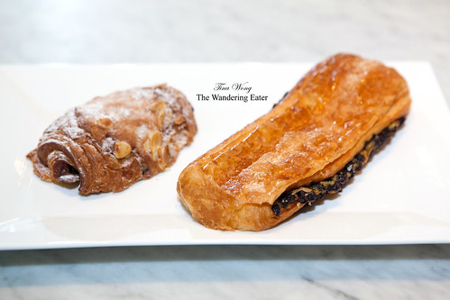 Chocolate Almond Croissant & Plié au Chocolat (Chocolate and Custard Croissant)