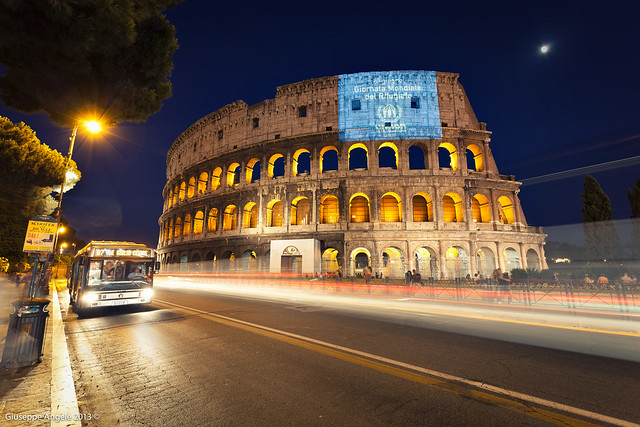 Bus Stop at Colosseum (Rome - Italy)