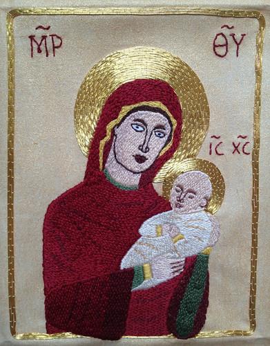 Theotokos embroidery