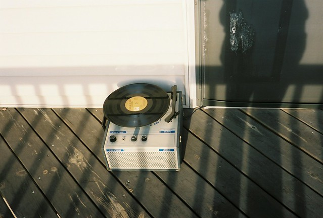 record player for the porch.