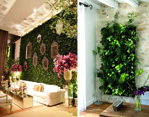 jardines verticales en interior naturaleza y vida