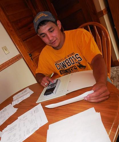 Jose adding up tickets