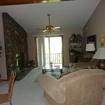 Fri, 07/12/2013 - 16:00 - This beautiful small, two bedroom, two bath condominium features a fully equipped kitchen, wood burning fireplace, washer/dryer and deck with charcoal grill.  There is a queen bed in the master bedroom and a queen in the guest room.  No sleeper sofa.  The unit also has two TV's and a VCR/DVD.