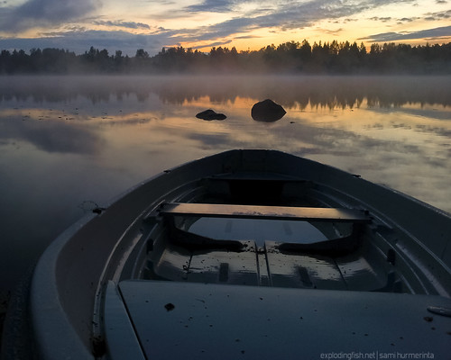 sunset cloud mist lake reflection nature beauty rock fog night forest suomi finland moody horizon tranquility calm silence rowboat jyväskylä hdr tranquilscene keskisuomi palokkajärvi samsunggalaxys2