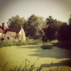 The Haywain - reinterpreted by Instagram #flatford #haywain #mill #river #mill #constable #green