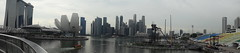 Panorama of the Marina Bay skyline