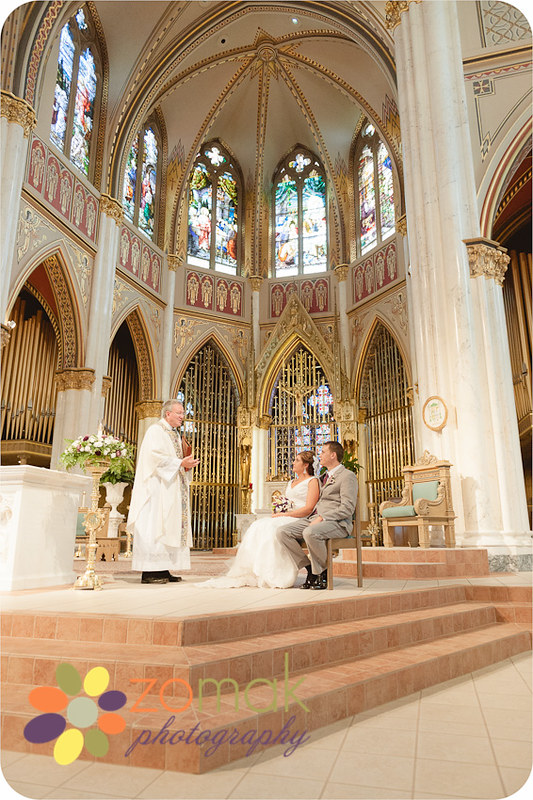 Catholic wedding ceremony at St Helena Cathedral