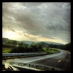 The morning drive - heading to see precious family in MA.