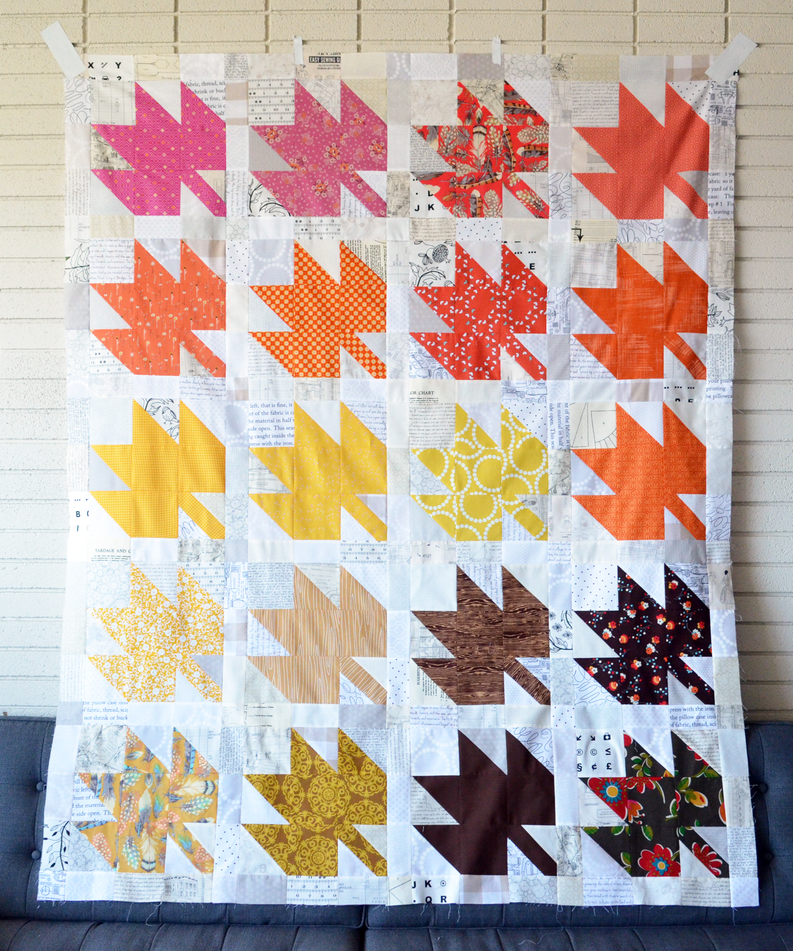 Modern Maples Quilt Top Complete!