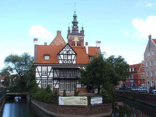 Small island Gdansk