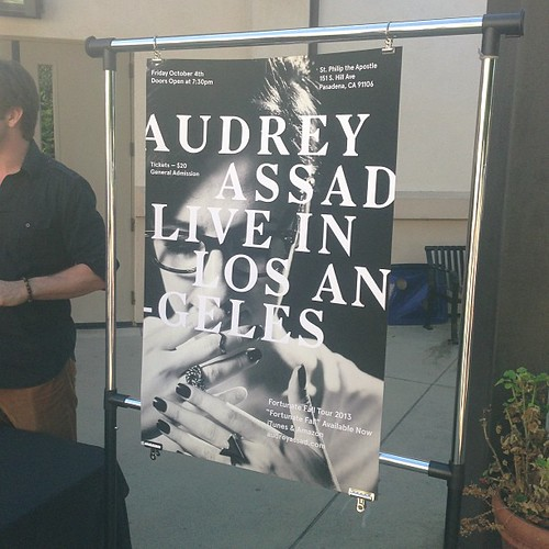 So excited! @audreyassad is playing a concert at our church Oct 4!