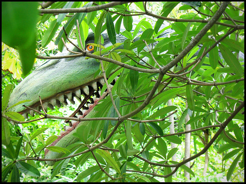 Scary Dinosaur at Dino Park Mini Golf Phuket