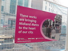 Midland Metro - Bull Street - sign - artists impression