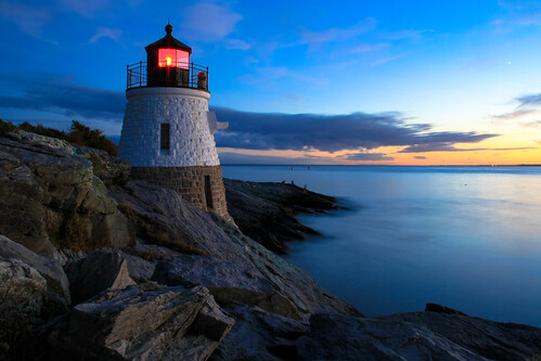 pictures ocean blue light sunset lighthouse house castle night speed canon island eos drive bay rocks long exposure lighthouses skies slow hill newport hour 7d posters shutter narragansett rhose impressedbeauty blinkagain flickrbronzetrophygroup flickrstruereflection1 flickrstruereflection2 flickrsfinestimages1 celebritiesofphotographyforrecreation photographyforrecreationclassic pwpartlycloudy