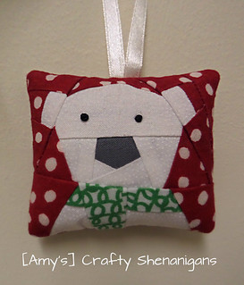 Tiny Polar Bear Christmas decoration