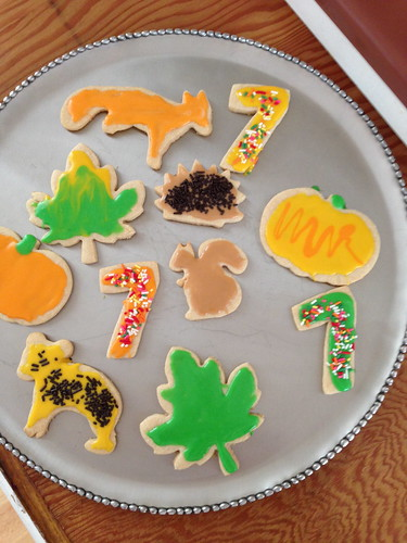 fall birthday cookies