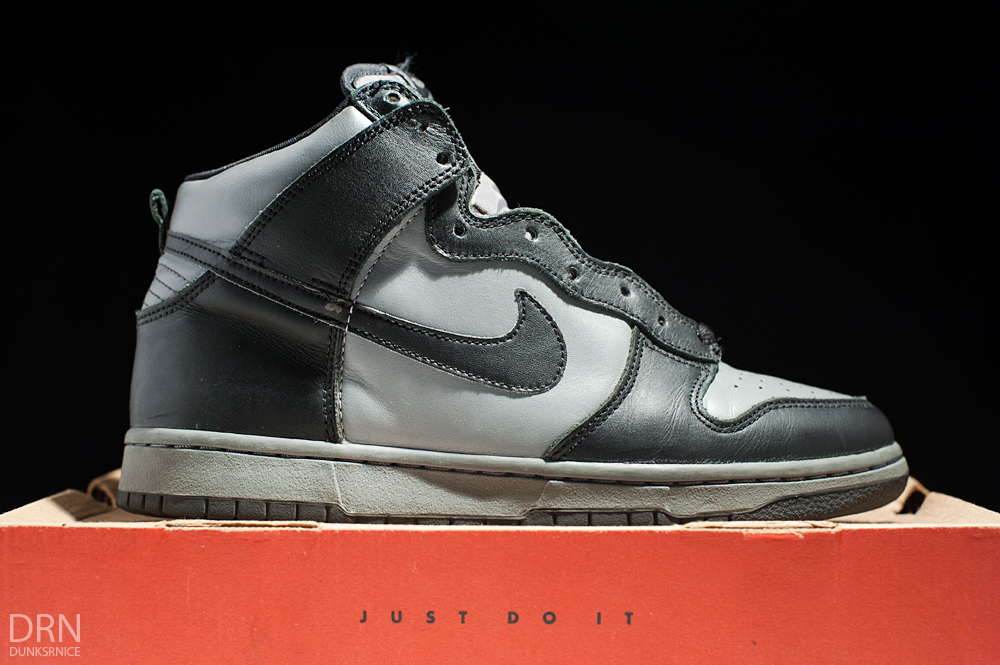 2000 Black & Cool Grey Co.Jp Dunk High LE's.