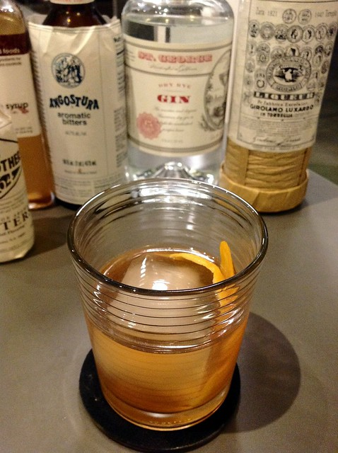 Rye Gin Old-Fashioned with St. George dry rye gin
