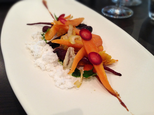 Carrots, Raisin, Olive Oil, Chestnut at Gladioli Restaurant