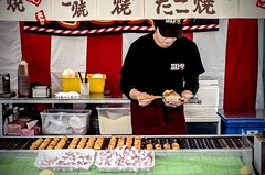 Making Takoyaki at Kiba