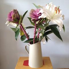 lily, art, flower arranging, flowerpot, cut flowers, flower, artificial flower, floral design, plant, vase, flower bouquet, floristry, ikebana, pink,