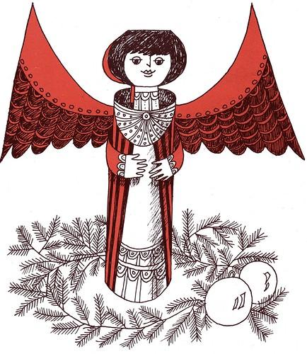 xmas paper angel