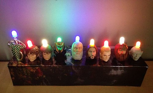Lord of the Rings Pez Menorah