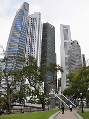 Singapore - Old Bridge & Scrapers