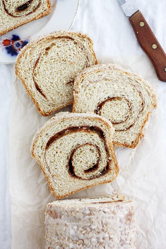 Eggnog Cinnamon Swirl Bread | girlversusdough.com @stephmwise