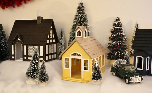 My handmade christmas village life at cloverhill - The tiny house village a miniature settlement ...
