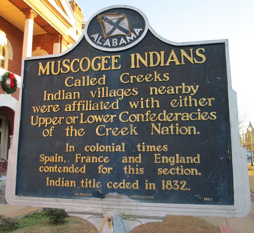 Muscogee Indians Marker (LaFayette, Alabama)
