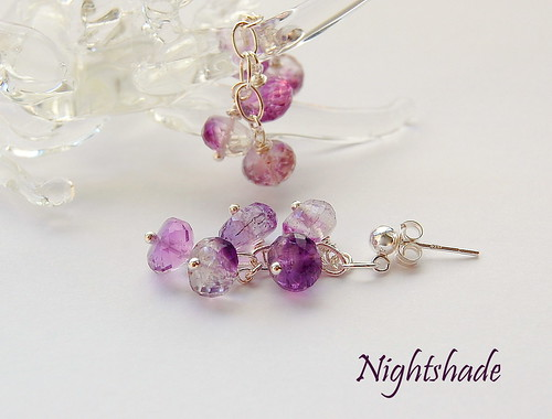 Nightshade Earrings. by gemwaithnia