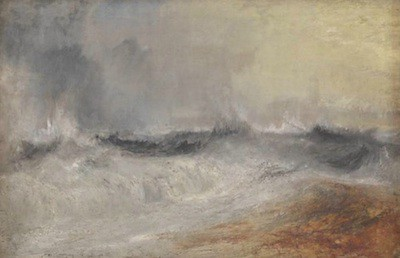 Turner's Waves breaking against the wind (1840)