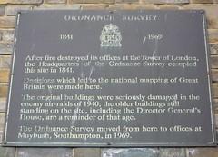 Photo of Ordnance Survey bronze plaque