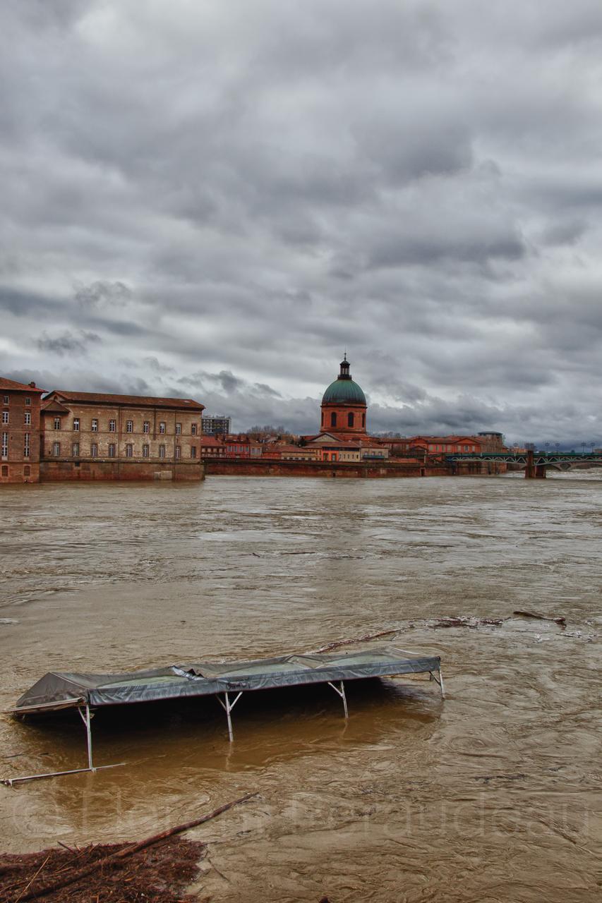 la Garonne en crue, 25 et 26 janvier 2014, Toulouse 12137512226_bdbe9a7030_o