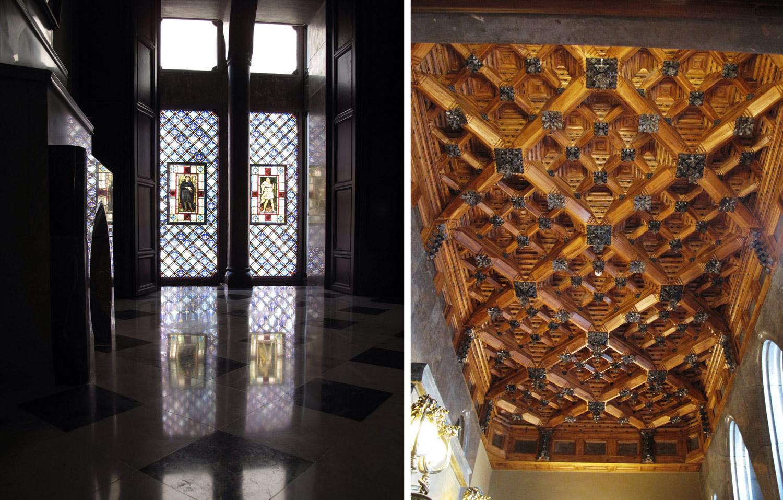 Palau güell_gaudi_vidrieras_artesonados