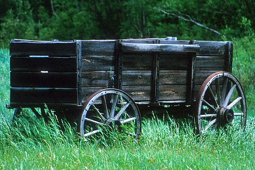 Old Wagon, Hudsons Hope, Northern British Columbia, Canada