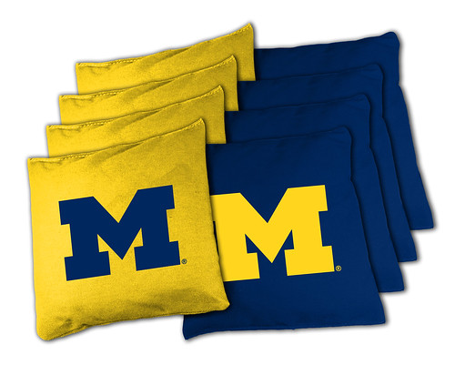 Michigan Wolverines Cornhole Bags