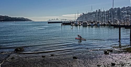 Paddleboarding near Tiburon, CA by joeeisner