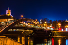 Bridge at Vilnius in night