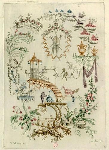 018- Arabescos chinos-Oeuvre gravé de Jean Pillement..1767-Vol 5- INHA