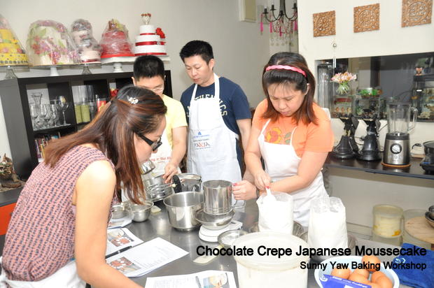 Sunny Yaw Baking Workshop Chocolate Crepe Japanese Moussecake