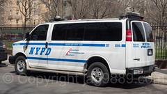 NYPD ESU Police Dog Van, 2017 Yankees Home Opener at Yankee Stadium, The Bronx, New York City