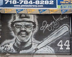 Reggie Jackson Canvas Painting near Yankee Stadium, The Bronx, New York City