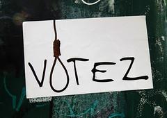 voter = se pendre
