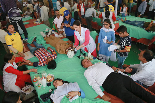 View of Blood Donation Camp