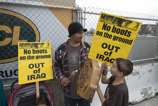 Protest against U.S. military actions