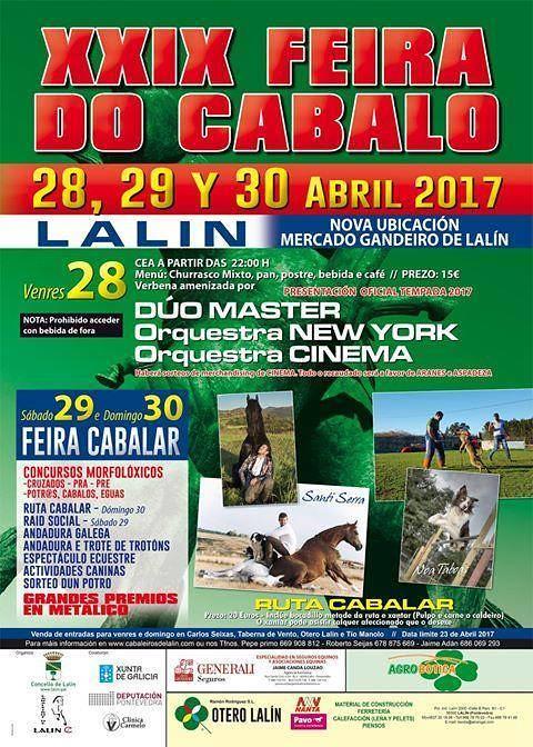Lalín 2017 - XXIX Feira do Cabalo - cartel
