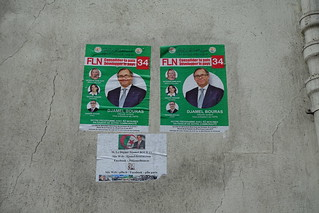 Algerian election poster @ Paris