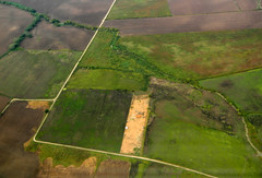 Aerial photo  of Mexican fields